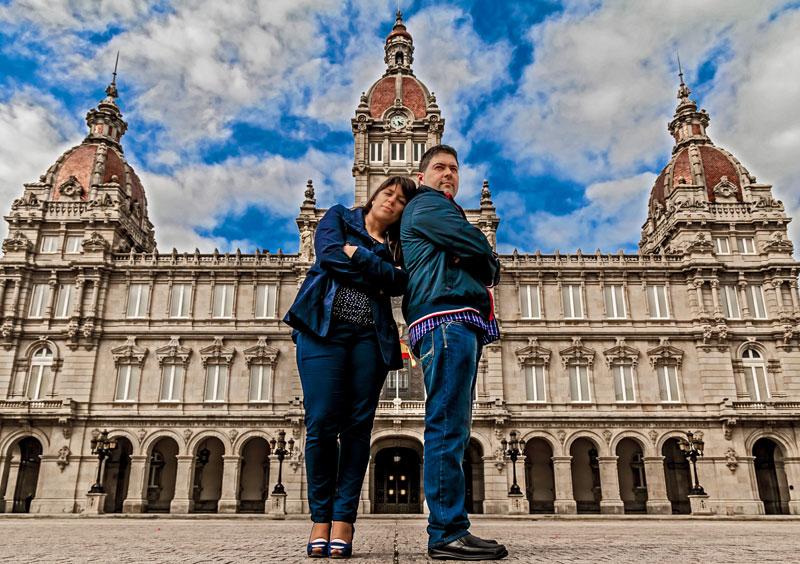 La preboda en Coruña de Alicia y Sergio