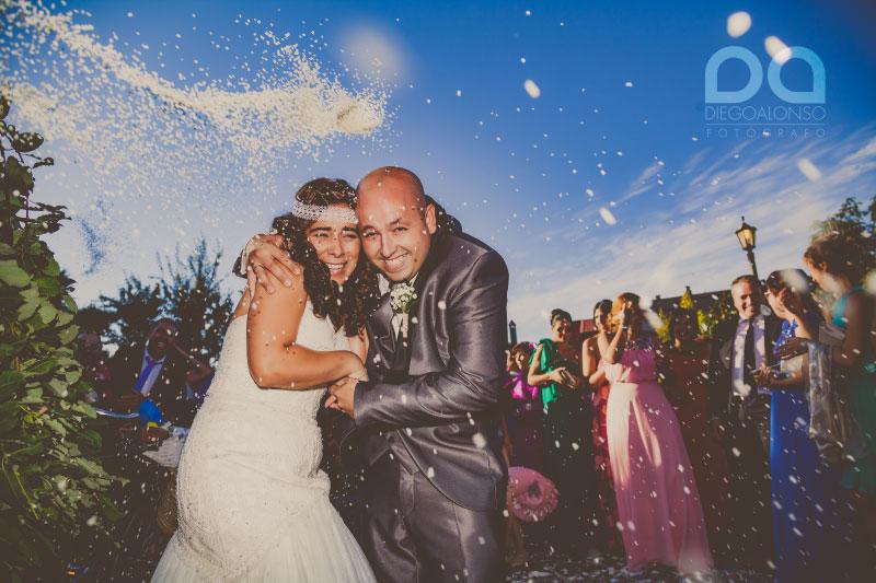 La boda en Carballo de Paula y Cristian