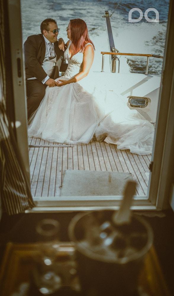 Una postboda en yate de lujo por la Costa da Morte: Laura & Adrián 1