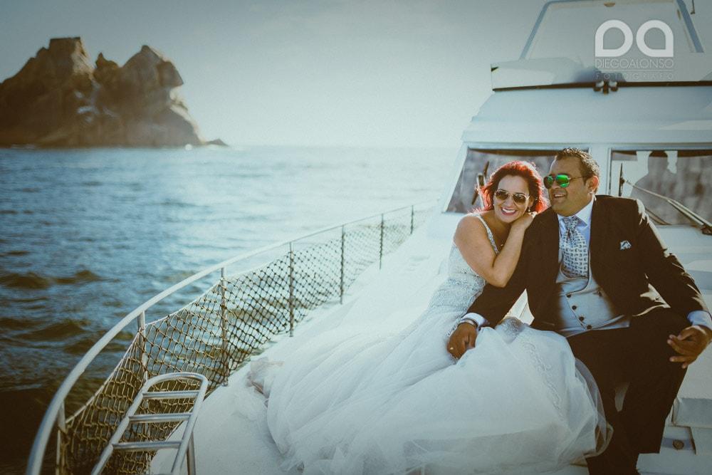 Una postboda en yate de lujo por la Costa da Morte: Laura & Adrián 11