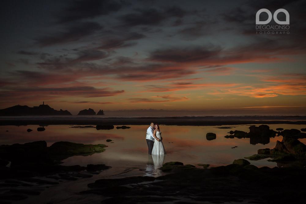 Postboda en la playa de Reira y Faro Vilán de Laura y Adrián 22