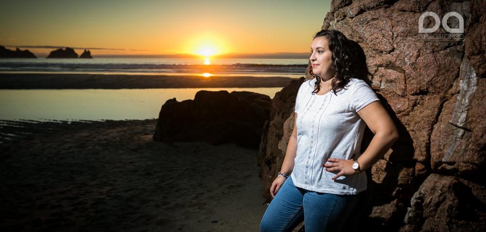 La preboda en familia de Brenda y Víctor en la playa de Reira 8