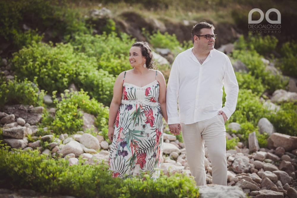 Fotos de la preboda en Arou y Lobeiras de Lucía y Luciano