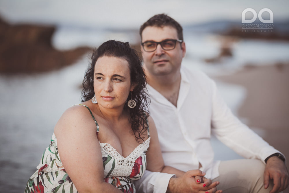 La sesión de fotos de preboda en Arou y Lobeiras de Lucía y Luciano 33