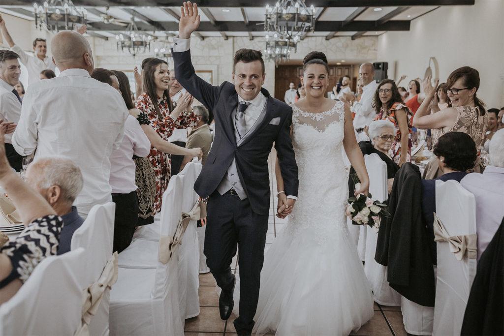 Proyección de fotos del día de la boda de Mirian y Pablo