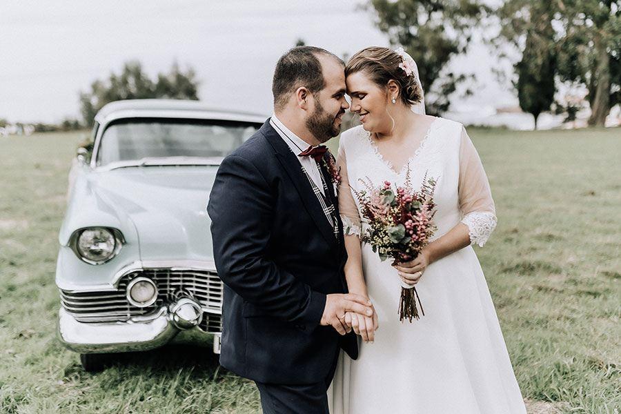La boda en Caión de Adriana y Brais
