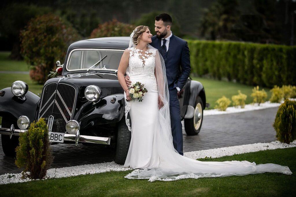 La boda en A Lagoa de Ramón y Gloria