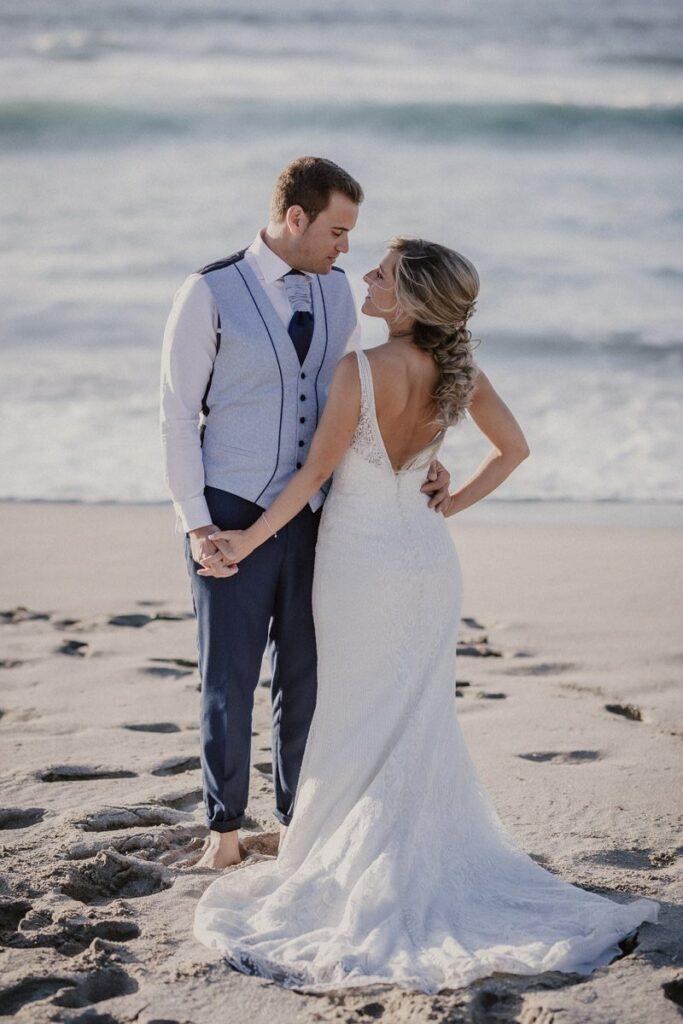 La postboda en la playa de Soesto de Raquel & Andro